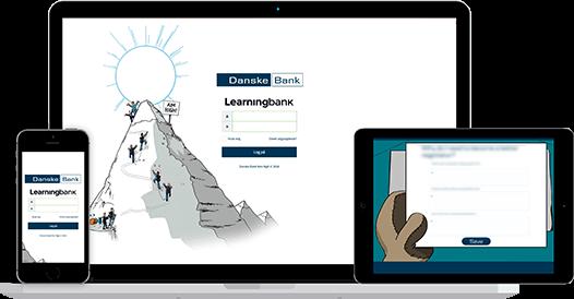 danske bank digital læring og træning af medarbejdere
